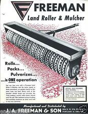 Farm Equipment Brochure - Freeman - Land Roller Mulcher Sprocket Wheels (F3326)
