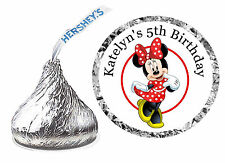 216 MINNIE MOUSE BIRTHDAY PARTY FAVORS HERSHEY KISS KISSES LABELS - RED DRESS