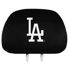 LOS ANGELES DODGERS CAR AUTO 2 TEAM HEADREST COVERS MLB BASEBALL