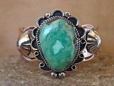 Native American Jewelry Copper & Turquoise Bracelet by Albert Cleveland! Navajo