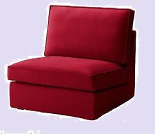 IKEA Kivik One-Seat Section Cover Dansbo Red Pique'1-Sofa Chair Slipcover NEW