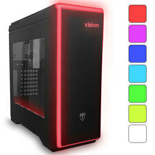 AVP Vision Nero ATX lightup USB 3.0 Gaming caso - 7 Colour LED & Side Window