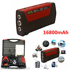 12V Portable Car Battery Jump Starter 16800mAh Power Bank Pack Booster Charger