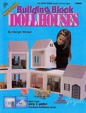 Building Block Dollhouses with Family & Furniture plastic canvas patterns