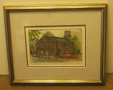 Limited Edition Etching PRESBYTERIAN MEETING HOUSE by Joan Graybeal Menard NR!!