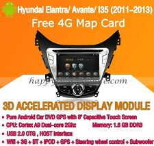 Android Car DVD Radio GPS Navi WIFI 3G for Hyundai Elantra Avante I35 2011-2013