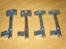 SKELETON KEYS Bit Key Blanks 4 With Grove ANTIQUE DOOR KEYS SKELETON BEGH