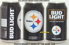 2016 BLACK BUD LIGHT PITTSBURGH STEELERS KICKOFF BEER CAN FOOTBALL PA SPORTS TIN