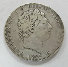 1820 Great Britain Silver Crown KM675 Rev. St George Slaying Dragon Crown
