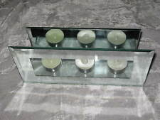 Mirrored Votive Candle Shelf Stand Reflection Flame Light NEW!