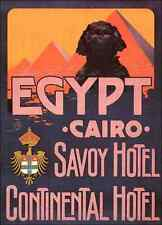 Egypt Luggage Label A4 Photo Print