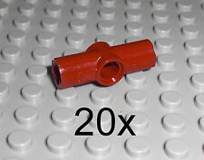 LEGO Technic - 20x Achs Pin Verbinder #2 dunkelrot Axle Pin Connector 32034