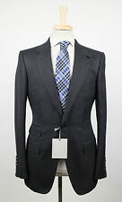 New. TOM FORD Gray Twill Wool Blend 2 Button Suit Size 48/38 R Base V $4590