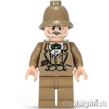 M849 Lego Indiana Jones Henry Jones Sr. Minifigure with Dark Tan Pith Helmet NEW