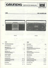 Grundig Service Anleitung Manual RR 445/RR 455   B1083