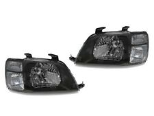 DEPO 97 98 99 00 01 Honda CRV CR-V JDM Black Clear Corner Headlights Set Pair