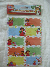 Christmas Gift Tags - DORA THE EXPLORER Gift Tags/Stickers  20 Adhesive tags