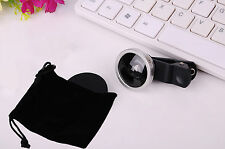 Universal 0.4X Super Wide Angle Lens Clip on Mobile Phone Selfie Camera w/ Bag