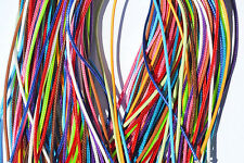 "Lot of (10) 18"" (Mixed Colors) Nylon Waxed Cord Necklace #1"