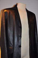 Vintage Mens Leather Jacket/Blazer Size L Black