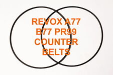 COUNTER BELTS REVOX A77  B77 PR99 REEL TO REEL EXTRA STRONG NEW A 77 B 77 PR 99