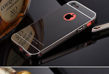 TOP Luxury Shockproof Aluminum Metal Bumper + PC Mirror Case Cover For iPhone 5C