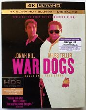 WAR DOGS 4K ULTRA HD UHD 1 DISC ONLY + SLIPCOVER SLEEVE NO ART WORK FREE SHIPING