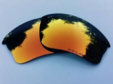 NEW ENGRAVED POLARISED FIRE RED MIRROR REPLACEMENT OAKLEY HALF JACKET XLJ LENSES