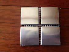 "2"" x 2"" Stainless Steel Brushed Metal Tile - Sample size:4 tiles"