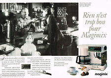 PUBLICITE ADVERTISING 055  1988  MAGIMIX   machine à café  expresso ( 2 pages)