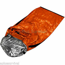 2 Pack Thermal Escape Solar Bivvy Sleeping Bag Mylar Emergency Survival Blanket