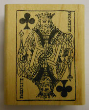 King of Clubs Card Rubber Stamp