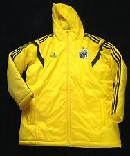 Columbus The Crew MLS Yellow Rain Stadium Jacket Coat Size Large