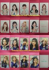 LOT of 18 TWICE Official Photocard MINT PINK Ver. 2nd Album PAGE TWO Photo Card