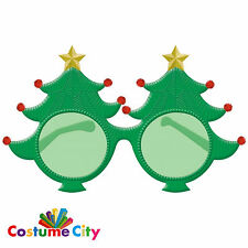 Giant Green Christmas Tree Glasses Festive Fancy Dress Party Accessory