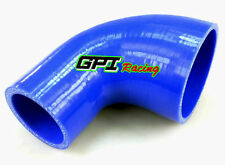 """2""""- 2.5"""" inch 51mm-64mm Silicone 90 Degree Reducer Elbow Joiner Hose Pipe Blue"""
