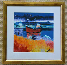 "John Lowrie Morrison Framed  ""The Puffer Eilean Easdale"" Signed, Numbered Art"