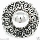 VINTAGE DESIGN TAXCO MEXICAN STERLING SILVER BEADED BEAD SCROLL RING MEXICO