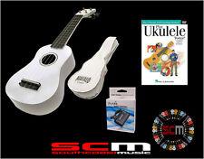 UKE PACK U30W WHITE SOPRANO UKULELE +GIG BAG +PLAY UKULELE TODAY DVD +TUNER