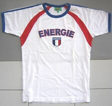 Stunning Men ENERGIE Designer White T-Shirt ITALY Size Medium