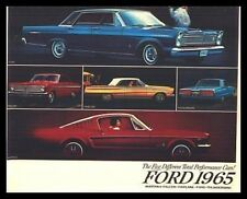 1965 Ford Performance Brochure  Mustang Galaxie T-Bird