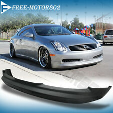 FOR 03-07 INFINITI G35 2DR COUPE FRONT BUMPER LIP SPOILER BODYKIT G STYLE  PU