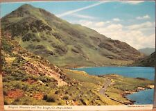 Irish Postcard BENGORM Mtn and DOO LOUGH Connemara Mayo Ireland John Hinde 2/136