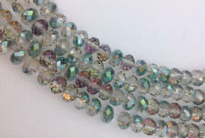 New 100pcs 4x6mm green rose faceted swarovski crystal glass beads