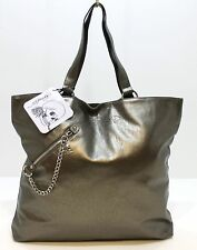 ED HARDY BRONZE LARGE TOTE/HANDBAG, SOFT TOUCH, WITH SKULL CHARM ZIP! £12.50