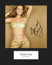 MARIAH CAREY #4 10x8 SIGNED Mounted Photo Print - FREE DELIVERY