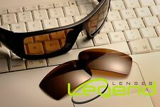 E18 Brown ETCHED POLARIZED Replacement Legend Lenses For Oakley GASCAN