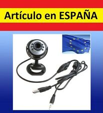 WebCam 12Mp megapixel con MICRÓFONO visión nocturna y 6 LED USB pc skype web cam
