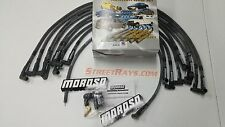 MOROSO BBC Chevy 396 454 Sleeved Spark Plug Wires 90 Degree HEI Under Header