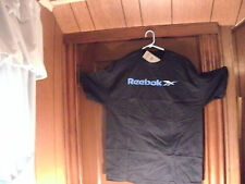 Reebok t-shirt S/S navyblue w/solid blue reebok and 2 part blue one white XL/TG